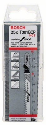 Пилка для лобзика T301BCP 1 штука BOSCH Precision for Wood (2608633A40) - Фото 2