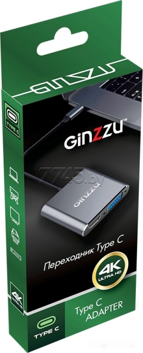 Адаптер GINZZU Type-C to HDMI+VGA (GC-875HVC) - Фото 3