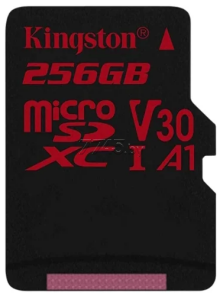 Карта памяти KINGSTON MicroSDXC 256 Гб Canvas React с адаптером SD (SDCR/256GB)
