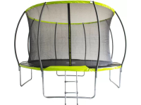 Батут FITNESS TRAMPOLINE Extreme Green D366 Inside - 12ft с защитной сеткой (4 опоры)