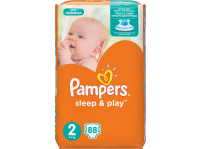 Подгузники PAMPERS Sleep&Play 2 Mini 3-6 кг 88 штук