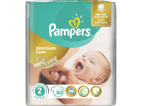 Подгузники PAMPERS Premium Care 2 Mini 3-6 кг 80 штук