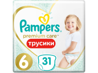 Подгузники-трусики PAMPERS Premium Care Pants 6 Extra Large
