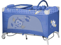 Манеж-кровать LORELLI Travel Kid 2 Rocker Blue Baby Owl (10080231418)