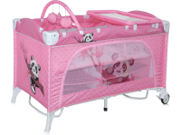 Манеж-кровать LORELLI Travel Kid 2 Rocker Pink Panda (10080231637)